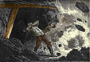 Mines And Miners Photos - Coal Mine Explosion, 19th Century by Sheila Terry