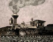 Coal Mixed Media Prints - Coal Train to Kalamazoo Print by Kerri Ertman