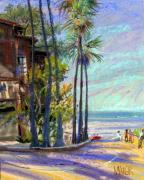 California Pastels Framed Prints - Coast Blvd La Jolla Framed Print by Donald Maier