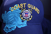Turquois Posters - Coast Guard Cap Poster by Linda Phelps