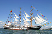 Tall Ships Prints - Coast Guard Included Print by Kym Backland