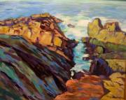 Marginal Way Prints - coast in Maine Print by Marilene Sawaf
