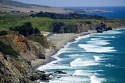 Highway 1 Framed Prints - Coast Near Ragged Point Framed Print by Levin Rodriguez