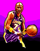 Los Angeles Lakers Digital Art - Coast to Coast by Jack Perkins
