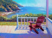 Oregon Pastels Prints - Coastal Cottage Print by Christine  Camilleri