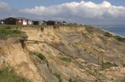 Coastal Prints - Coastal Erosion at Highcliffe Print by Andy Smy