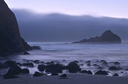 Big Sur Beach Framed Prints - Coastal Fog - Big Sur Framed Print by Stephen  Vecchiotti