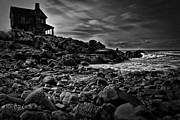 Rugged Photo Prints - Coastal Home  Kennebunkport Maine Print by Bob Orsillo
