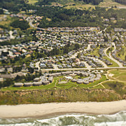 San Mateo County Prints - Coastal Homes and Resort Print by Eddy Joaquim