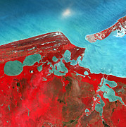Isla Prints - Coastal Lagoons, Satellite Image Print by Nasa