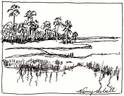 Palm Trees Fronds Originals - Coastal Marsh by Michele Hollister - for Nancy Asbell