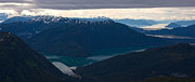 Coastal Range Fjords Print by Mike Reid