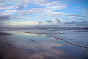 Beachscape Prints - Coastal Reflections Print by East Coast Barrier Islands Betsy A Cutler
