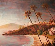Tuscan Sunset Paintings - Coastal View II by Christopher Clark