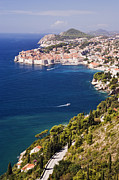Coastal View Of The Old Town Of Dubrovnik Print by Jeremy Woodhouse