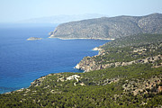 Greece Photos . Photos - Coastal view over pine forest Kastrou Monolithos Rhodes Greece by Ian Murray