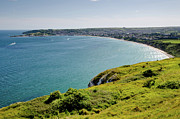 Beaches Photo Posters - COASTAL WALK Swanage Bay comes into view sweeping beaches Dorset England UK Poster by Andy Smy