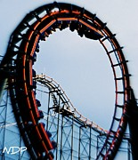 Thrill Digital Art - Coaster Loop by Nicole Hutchison