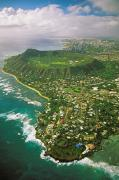 Neighborhood Prints - Coastline And Diamond Head Print by Tomas del Amo - Printscapes