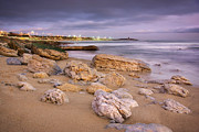 Pebbles Prints - Coastline at twilight Print by Carlos Caetano