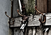 Rural Decay Art - Coat Hooks by Larysa Luciw