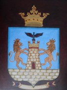 Family Coat Of Arms Art - Coat of Arms - Family Crest by Melina Mel P