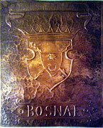 Bar Reliefs Acrylic Prints - Coat of arms Bosnia  Acrylic Print by Mak Art