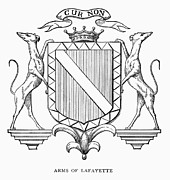 Aristocracy Photos - Coat-of-arms: Lafayette by Granger