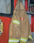 Firefighter Originals - Coat of Courage- Canadian flag by Bobbi Whelan