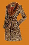 Illustration Painting Originals - Coat Orange by Vlasta Smola