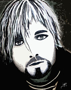 Kurt Cobain Digital Art - Cobain - Digital by Jennifer L Kiehl