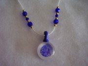 White Pearl Jewelry - Cobalt Blue and Pearl White Necklace by Yvette Pichette