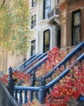 Stoops Framed Prints - Cobble Hill Framed Print by Leonardo Ruggieri