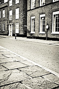 Kerb Framed Prints - Cobbled street Framed Print by Tom Gowanlock