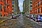Cobblestone Street Prints - Cobblestone Brooklyn Print by Randy Aveille