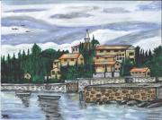 Cobblestone Painting Prints - Cobblestone Cove Print by Sea Sons Home and Life