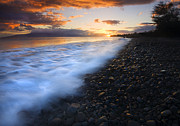 Lahaina Prints - Cobblestone Sunset Print by Mike  Dawson