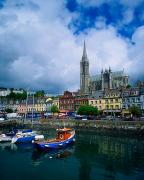 Roman Sport Framed Prints - Cobh Cathedral & Harbour, Co Cork Framed Print by The Irish Image Collection