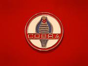 Classic Automobile Prints - COBRA Emblem Print by Mike McGlothlen