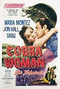 Newscanner Framed Prints - Cobra Woman, Maria Montez, Jon Hall Framed Print by Everett