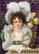 Glove Photo Framed Prints - COCA-COLA AD, 1890s Framed Print by Granger