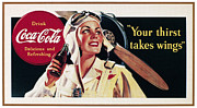 Bottle Cap Acrylic Prints - Coca-cola Ad, 1941 Acrylic Print by Granger
