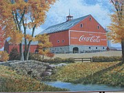Collectible Art Prints - Coca Cola Americana Print by Jake Hartz