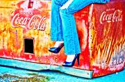 Blue Jeans Framed Prints - Coca-Cola and Stiletto Heels Framed Print by Toni Hopper