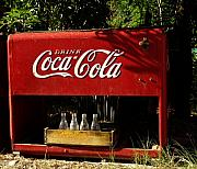 Antique Bottles Art - Coca-Cola by Carol Milisen