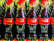 Wing Tong Digital Art Prints - Coca Cola Coke Bottles Print by Wingsdomain Art and Photography