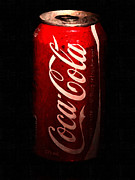 Soda Can Prints - Coca Cola Coke Can . Painterly Print by Wingsdomain Art and Photography
