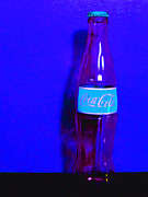 Coke Bottle Prints - Coca-Cola Coke - Painterly - Blue Print by Wingsdomain Art and Photography