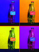 Coke Bottle Prints - Coca-Cola Coke - Painterly - Four Print by Wingsdomain Art and Photography