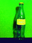Coke Bottle Prints - Coca-Cola Coke - Painterly - Green Print by Wingsdomain Art and Photography